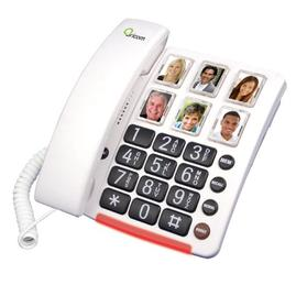 Oricom Care 80 loud telephone can help the hearing impaired hear on the phone